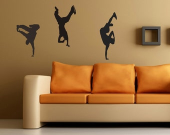 Breakdancers wall decal