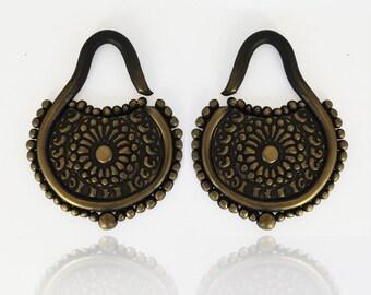 "Eastern Sun Goddess Gauges - Earrings For Stretched Lobes - Fake, 4g, 2g, 0g, 00g, 7/16"", 1/2"" - Gauged"