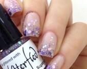 Sugarplum - Holographic Purple and Cotton Candy Pink Iridescent Glitter Nail Polish handmade indie nail polish vegan cruelty free