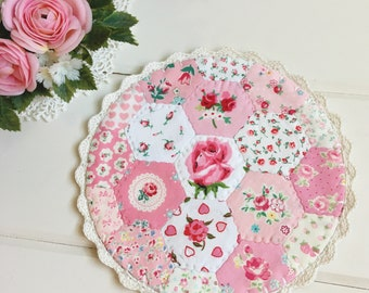 a most lovely hexie patchwork doily no. 3