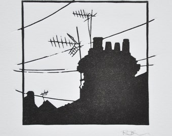 Small Rooftop Print