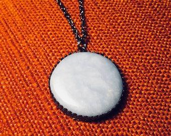 Blue Angelite Statement Necklace