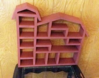 Barn Shadow Box, Barn Wall Shelves, Cubby Shelf, Knick Knack Storage,