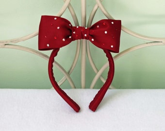 Bow Costume Headband - Snow White, Alice in Wonderland, Character Costume, Hairbow, Cosplay Accessories, Princess Hairbow