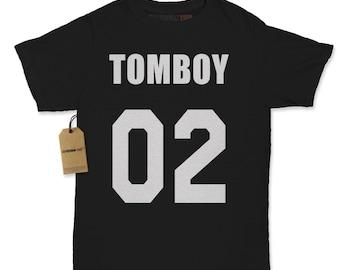 Kid's Tomboy 02 Shirt Printed Youth T-Shirt #1190