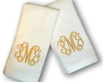 Monogrammed Finger Tip Towels - Set of Two