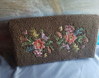 Vintage Beaded Embroidered Clutch Beautiful