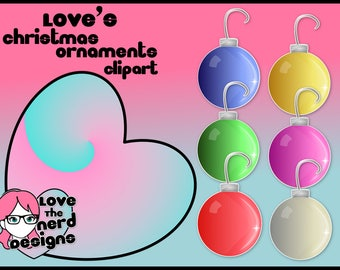 Love's Christmas Ornaments clipart