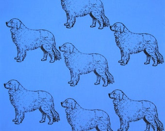 """Great Pyrenees Dog Fabric BEST All Cotton Ever""""Feels Like Silk""""Northcott/Hot Diggity Dog/Craft Supplies & Tools/Fabric and Notions/Fabric"""