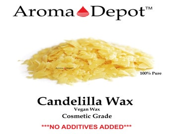 Candelilla Wax Flakes T1 100% Pure Natural Organic Multipurpose 1 oz. to 15 Lbs FLAKES Vegan Wax Premium Prime Grade A