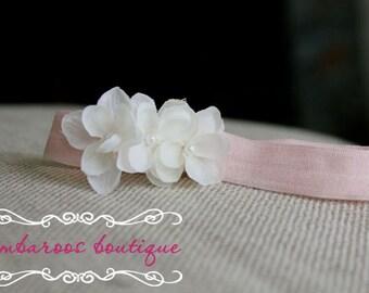 baby headband, newborn headband, pink, lavender, white