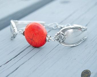 bracelet, silverware jewelry, spoon jewelry, silverware art, fork bracelet