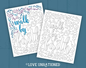 Bible Verse coloring page - adult coloring page, Bible verse to color, coloring page, faith, kids coloring page, Sunday school, VBS