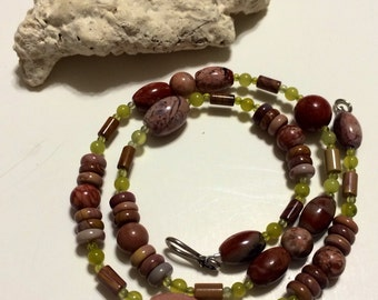 """BOLD Statement sterling silver Multicolored Imperial Agate Sterling Silver 19"""" Necklace."""