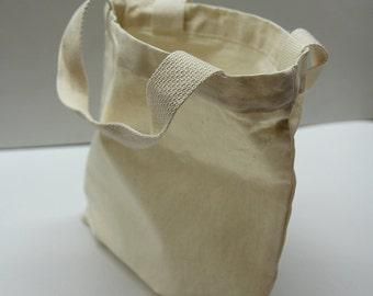 """11"""" * 13"""" Plain unbleached Cotton Oxford Tote Bag/ Market bag/ Eco friendly cotton fabric / Style#101"""