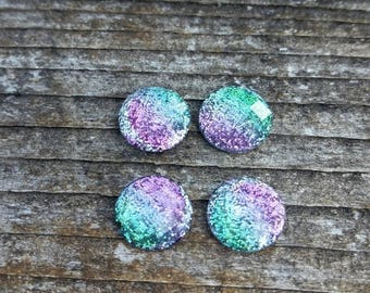10mm Watermelon Sorbet Resin Ombre Cabochons