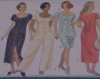 Butterick 3308 Misses Dress, Top and Pants Size 6-12
