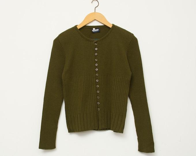Vintage 90s dark green sweater deadstock