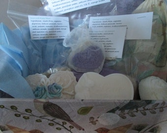 CHERISH ONE ANOTHER Gift Set,  Heart Soap Variety with Goat Milk Soap, cocoa butter, pumpkin seed  and jojoba oils, raw cacao, mango butter