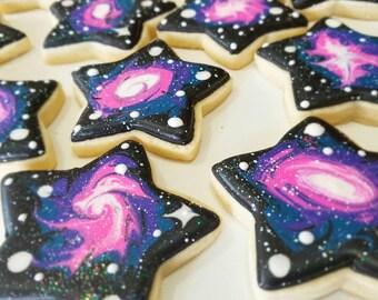 Cosmo cookies, space cookies, heart cookies, star cookies, Galaxy cookies,galaxy party,space party, astronaut party, cosmos, galaxy party