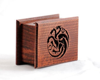 Game of Thrones Targaryen - The Song of Ice and Fire handmade  music box with melody paper strip