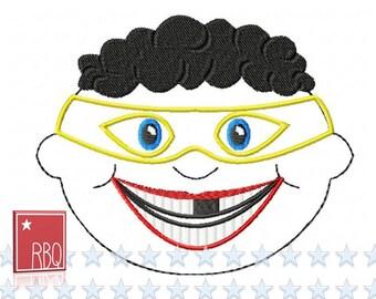 Stickdatei mit Anleitung Zahnfee Kissen Super Boy Junge 2 130x180 Rahmen