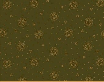 Windham Kindred Spirits 2 Green with Circles Civil War Reproduction 40207 A Fabric BTY