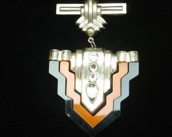 Art Deco Dangling Brooch Pin