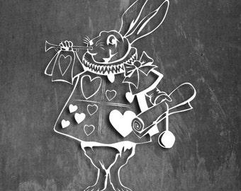 "Alice In Wonderland- disney Rabbit- Vinyl Decal - Multiple colors 5"""
