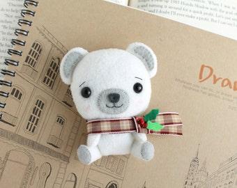 PDF Pattern - Felt Polar Bear Nogget Plush