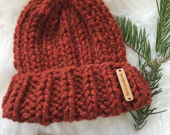 Brim beanie with or with out pompom
