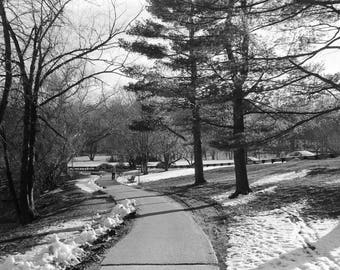 """Boston, Snow, Black and White Photography, Fine Art Photography, """"A Winter Day in Boston"""""""