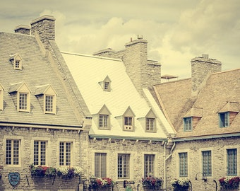"""Quebec City Rooftops Fine Art Print, City Photography, Architecture Wall Art, Canada Art Print, Fine Art Photography, """"Quebec Rooftops"""""""