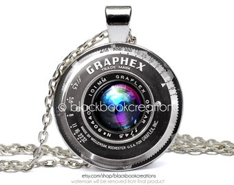 Vintage Camera - Photographer Necklace -  Handmade