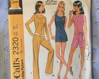 McCall's 2320 / 1960's Jumpers / Retro Playsuit