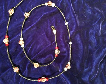 Red and black eye glass chain