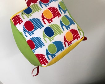 Baby Block with Rattle & Tags!