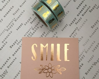 Pineapple Washi Tape - Gold Foil, Washi Tape, Washi, Decorative Tape, Pineapple Tape, Planner Tape, Washi, Teal Tape