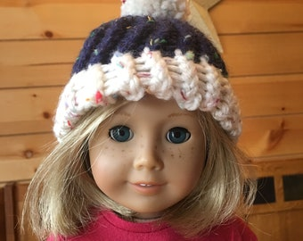 """Knit hat for 18"""" doll"""
