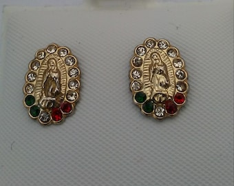 Sterling Earrings Our Lady of Guadalupe