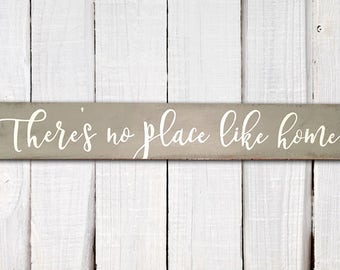 Hand-painted wood sign, There's no place like home