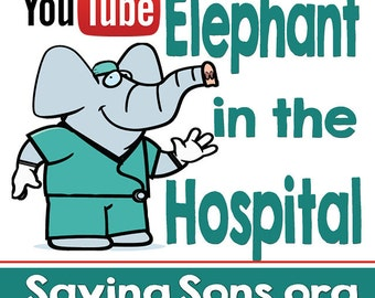 Elephant in the Hospital (Intact Info) Stickers