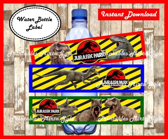 Jurassic Park Water Bottle Label Printable Jurassic Park