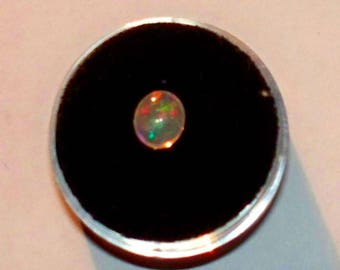 Mexican Fire Opal 7x6 Millimeter Oval Cabochon
