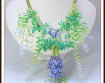 Wisteria Ndebele/Herringbone necklace pattern seed beading tutorial INSTRUCTIONS - by Hannah Rosner