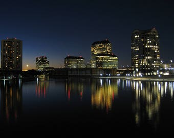 Framed Photography - Urban Skyline on the Water