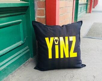 Yinz Pillow- Pittsburgh Home Decor- Pittsburgh Pillow- Yinzer Pillow- Yinzer Decor- Misplaced Yinzer Decor