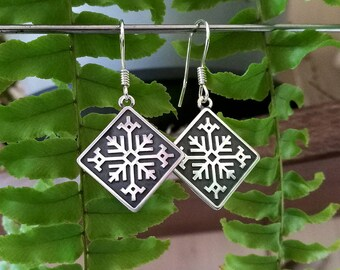 Fern Flower - Sterling Silver Earrings