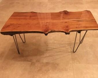 Rustic Live Edge Maple coffee table