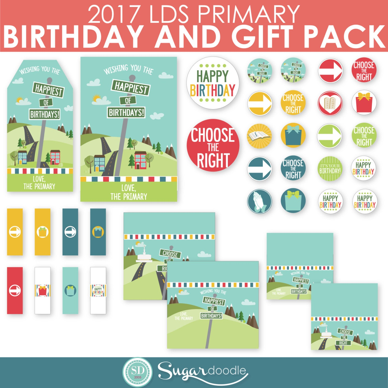 2017 LDS Primary Birthday and Gift kit Choose the Right